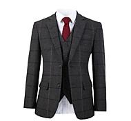 abordables -costume personnalisé en laine tweed à chevrons gris