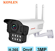 abordables -KONLEN 3 mp Caméra IP Extérieur Soutien 128 GB / CMOS / Adresse IP dynamique / Adresse IP statique / Android