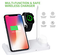abordables -charge sans fil multifonction pliable vertical 4 en 1 support de chargeur sans fil dock sans fil pour iphone 12 pro max 11 pro xr xs 8 plus samsung s21 ultra s20 plus air pods pro crayon apple iwatch