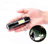 abordables -brelong led poche lampe de poche portable mini torche porte-clés avec la lumière de côté en épi pour la randonnée pêche alpinisme