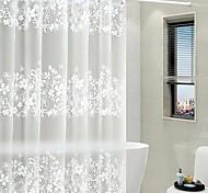 economico -Tende da doccia Bianco Moderno PEVA Impermeabile