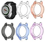 economico -Custodie Per Garmin Garmin Vivoactive 4S / Garmin Active S TPU Proteggi Schermo Custodia per Smartwatch  Compatibilità