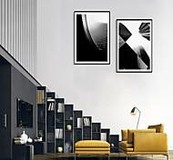 economico -Stampe con cornice Set con cornice - Astratto Paesaggi Polistirolo Foto Decorazioni da parete