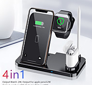 abordables -chargeur sans fil station de charge 4 en 1 pour iphone 12 pro max mis à niveau support de charge rapide sans fil 10w compatible iphone 12 11 / xs / xr compatible apple watch series 6/5/4/3 crayon pad
