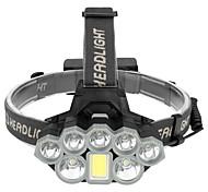 abordables -Lampes Frontales LED 8 Émetteurs Portable Ajustable Etanche Durable Camping / Randonnée / Spéléologie Usage quotidien Cyclisme Noir