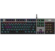 economico -aoc gk410 tastiera da gioco meccanica con filo usb tastiera da gioco chiavi retroilluminate multicolore luminose 104 pezzi