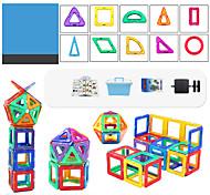 abordables -64 pcs Jouets Aimantés Blocs Magnétiques Blocs de Construction Aimants Magnétiques Super Forts Aimant Néodyme Puzzle Métallique ABS Haute qualité Magnétique Enfant / Adulte Garçon Fille Jouet Cadeau