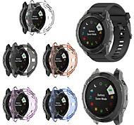 abordables -tpu couvercle en cristal doux pour Garmin Fenix 6x pro accessoires de protection de montre intelligente