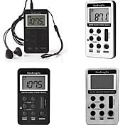 abordables -radio à affichage numérique portable rechargeable fm à deux bandes