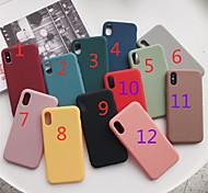 economico -telefono Custodia Per Apple Per retro iPhone 12 Pro Max 11 SE 2020 X XR XS Max 8 7 6 Effetto ghiaccio Tinta unica TPU