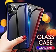 abordables -téléphone Coque Pour Apple Coque Arriere iPhone 11 Pro Max SE 2020 X XR XS Max 8 7 6 Ultrafine Lignes / Vagues TPU Verre Trempé