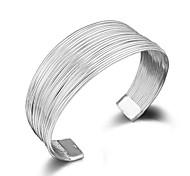 economico -braccialetti di dimensioni regolabili in argento placcato in argento 925 con linea personalizzata personalizzata all'ingrosso moda donna