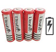 voordelige -UltraFire BRC Li-ion 18650 batterij 4200 mAh 4pcs 3.7 V Oplaadbaar voor Zaklantaarn Fietslicht Hoofdlampen Jagen Klimmen Kamperen / wandelen / grotten verkennen