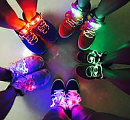 abordables -2 pcs Party Patinage Charmant LED Flash Light Up Glow Lacets Lacets De Chaussures Lacets Couleur Lacets Accessoires De Chaussures