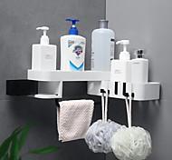 economico -Ganci Impermeabile / Regolabili / Auto-adesivo Contemporaneo moderno / Di tendenza ABS + PC 1pc Spazzolino da denti e accessori / Spugne e scrubber / Decorazione del bagno