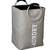 economico -grande cesto per biancheria pieghevole con manici, cesto pieghevole per abiti da 13 x 13 x 20 pollici per riporre gli oggetti
