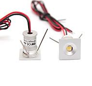 abordables -2pc 1w dc12v mini led armoire lumières 12v downlight 15mm trou coupé lampe encastrée au plafond ip65 pour affichage armoire de bijoux