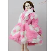 economico -Accessori della bambola Vestiti per le bambole Abito da bambola Vestito per bambola Cappotto per bambole Abito da matrimonio Cappotti / giacche Party / serata Matrimonio Da principessa Tessuto Tulle