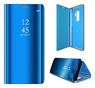 economico -telefono Custodia Per Samsung Galaxy Integrale Custodia in pelle Custodia flip Resistente agli urti A prova di sporco Con supporto Tinta unita pelle sintetica