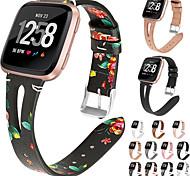 economico -Cinturino intelligente per Fitbit 1 pcs Chiusura classica Banda di affari Similpelle Sostituzione Custodia con cinturino a strappo per Fitbit Versa Fitbit Versa Lite Fitbit Versa 2