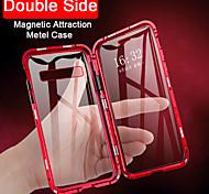 economico -telefono Custodia Per Samsung Galaxy Integrale Custodia ad adsorbimento magnetico Custodia flip Con chiusura magnetica Transparente A calamita Transparente Vetro temperato Metallo
