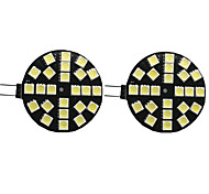 economico -2pcs 4 W Luci LED Bi-pin 400 lm G4 24 Perline LED SMD 5050 Bianco caldo Bianco 9-30 V