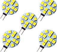 abordables -5pcs 2 W LED à Double Broches 200 lm G4 12 Perles LED SMD 5050 Blanc Chaud Blanc 12 V