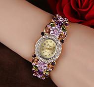 economico -Per donna Orologio braccialetto Analogico Quarzo Alla moda Glitter Elegante Orologio casual imitazione diamante / Un anno