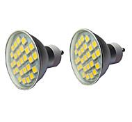 abordables -2pcs 5 w projecteur LED 400 lm gu10 gu10 1 led perles cob blanc chaud blanc 110-240 v