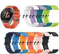 abordables -Bracelet de montre connectée pour Huawei 1 pcs Bracelet Sport Boucle Classique Silicone Remplacement Sangle de Poignet pour Montre Huawei GT Montre Huawei 2 Watch 2 Pro Honneur à la magie Huawei