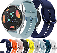 abordables -Bracelet de montre connectée pour Huawei 1 pcs Bracelet Sport Boucle Classique Silicone Remplacement Sangle de Poignet pour Montre Huawei GT Montre Huawei 2 Watch 2 Pro Honneur à la magie Montre