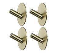 economico -Set di accessori per il bagno / Portasciugamani a muro Nuovo design / Auto-adesivo / Multiuso Acciaio inossidabile 4 pezzi