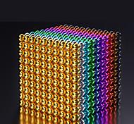abordables -216-1000 pcs 5mm Jouets Aimantés Boules Magnétiques Blocs de Construction Aimants de terres rares super puissants Aimant Néodyme Cube casse-tête Magnétique Adulte Garçon Fille Jouet Cadeau