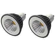 economico -2pcs 7 W Faretti LED 500 lm GU10 GU10 1 Perline LED COB Oscurabile Bianco caldo Bianco 220-240 V