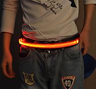 abordables -Ceinture réfléchissante LED Lumineux pour Course Cyclisme Le jogging Tissu Blanc Rouge Bleu Bouton alimenté par batterie