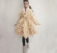 abordables -Tenue de poupée Pour Barbie Imprimé Mode Polyester Manteau Pour Fille de Jouets DIY  / Enfants