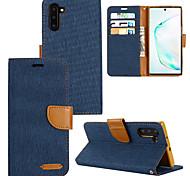 economico -telefono Custodia Per Samsung Galaxy Integrale Custodia in pelle S9 S9 Plus S8 Plus S8 Bordo S7 S7 Nota 9 Nota 8 S10 + S10 Lite Porta-carte di credito Resistente agli urti Tinta unica pelle sintetica