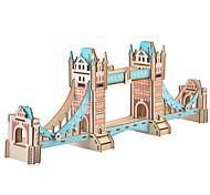 abordables -Bâtiment Célèbre Puzzles en bois Maquettes de Bois Papier EPS Enfant Adulte Jouet Cadeau