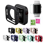 economico -Custodie Per Apple  iWatch Apple Watch Serie SE / 6/5/4/3/2/1 Silicone Proteggi Schermo Custodia per Smartwatch  Compatibilità 38 millimetri 40 mm 42 millimetri 44mm