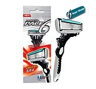 abordables -rasoir dorco rasoir à 6 couches pour hommes rasant les lames de rasoir de sécurité en acier inoxydable