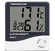 economico -camera interna lcd elettronico misuratore di umidità della temperatura termometro digitale igrometro stazione meteo sveglia htc-1