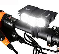 abordables -LED Eclairage de Velo Eclairage de Vélo Avant Phare Avant de Moto VTT Vélo tout terrain Vélo Cyclisme Imperméable Rechargeable Modes multiples Super brillant 18650 3000 lm Batterie Camping