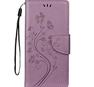 economico -telefono Custodia Per Samsung Galaxy Integrale Custodia in pelle Bordo S7 S7 Galaxy Note 10+ Porta-carte di credito Farfalla Floreale pelle sintetica