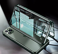 economico -telefono Custodia Per Apple Integrale Custodia ad adsorbimento magnetico iPhone 12 Pro Max 11 SE 2020 X XR XS Max Resistente agli urti Transparente Doppia setola Transparente Tinta unica Vetro