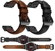 economico -Cinturino intelligente per Garmin 1 pcs Cinturino sportivo Cinturino di pelle Vera pelle Sostituzione Custodia con cinturino a strappo per Fenix 5x Fenix 5s Fenix 5 Fenix6 Fenix6s 20 millimetri