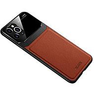economico -telefono Custodia Per Apple Per retro Custodia in pelle iPhone 12 Pro Max 11 SE 2020 X XR XS Max 8 7 6 Resistente agli urti Effetto ghiaccio Tinta unita pelle sintetica Vetro temperato PC