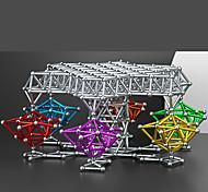 abordables -8mm Blocs Magnétiques Bâtons Magnétiques Carreaux magnétiques Briques de construction 63 pcs Créatif simple Soulagement de stress et l'anxiété Soulage ADD, TDAH, Anxiété, Autisme Jouets de / Métal