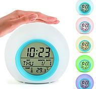 abordables -tactile, réveil numérique, lever du soleil, coucher de soleil, led, réveil, lumières, coloré, mode, rappel d'alarme, nature, son