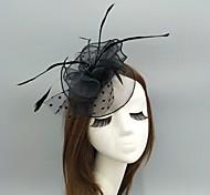 economico -Piume / A rete fascinators / cappelli / Cappelli con Piume / Con ruche / A pois 1 pezzo Matrimonio / Occasioni speciali Copricapo