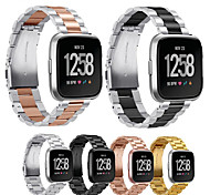abordables -1 pièces Bracelet de Montre  pour Fitbit Bande d'affaires Acier Inoxydable Sangle de Poignet pour Fitbit Versa Fitbit Versa Lite Fitbit Versa 2